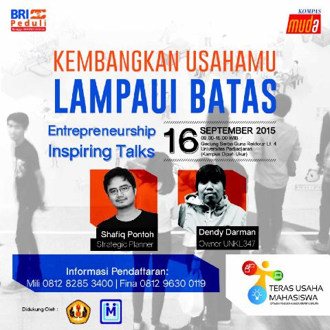 Memulung Ilmu di Teras Usaha Mahasiswa Bandung