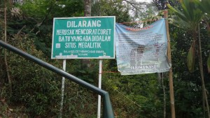 Salah Satu Larangan di Situs Megalitikum Gunung Padang