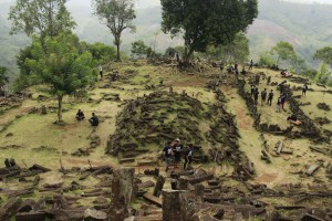 Situs Megalitikum Gunung Padang Tampak Atas