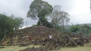 Situs Megalitikum Gunung Padang Tampak Bawah