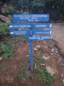 Petujuk Arah di Geopark Ciletuh Sukabumi