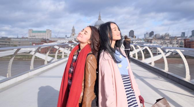 Caramel dan Adelle di Film London Love Story