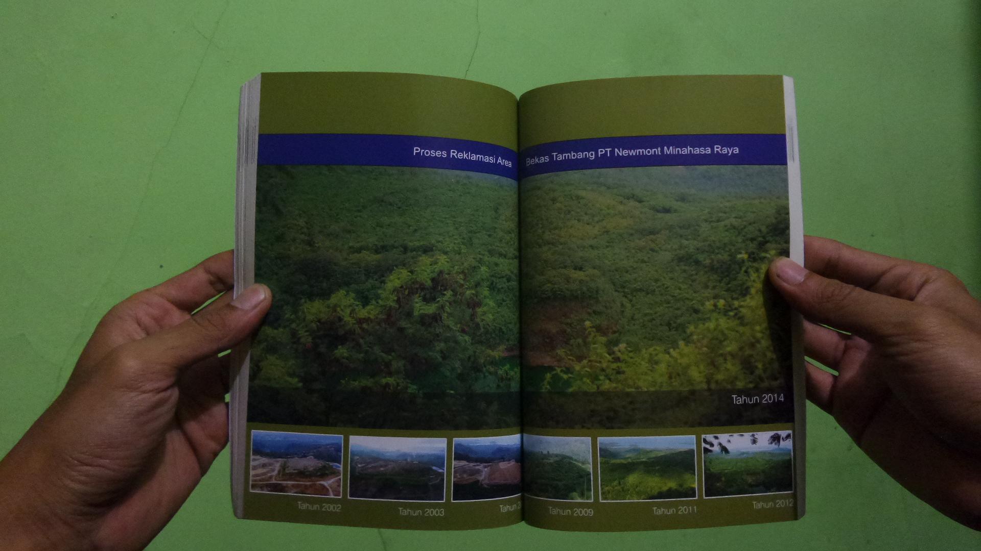 Foto Landscape Reklamasi dari PT Newmont Nusa Tenggara
